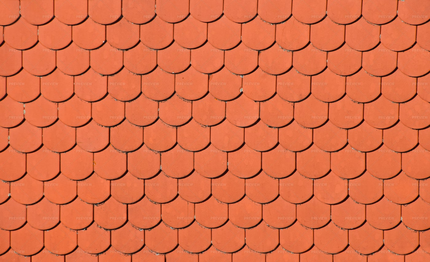 Brown Ceramic Roof Tiles: Stock Photos