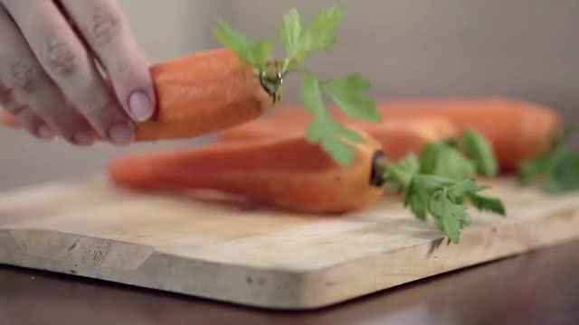 Carrots On Cutting Board: Stock Video