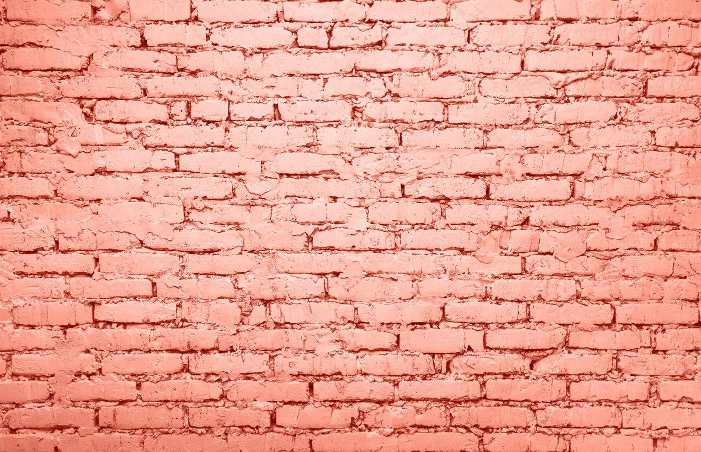 Pink Brick Wall Background: Stock Photos