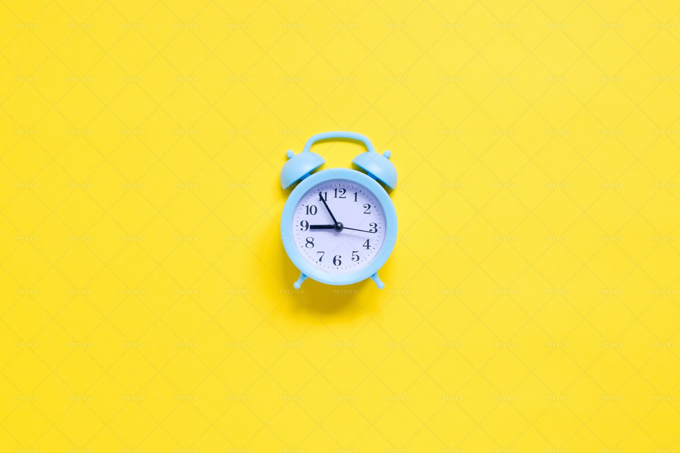 Blue Alarm Clock: Stock Photos