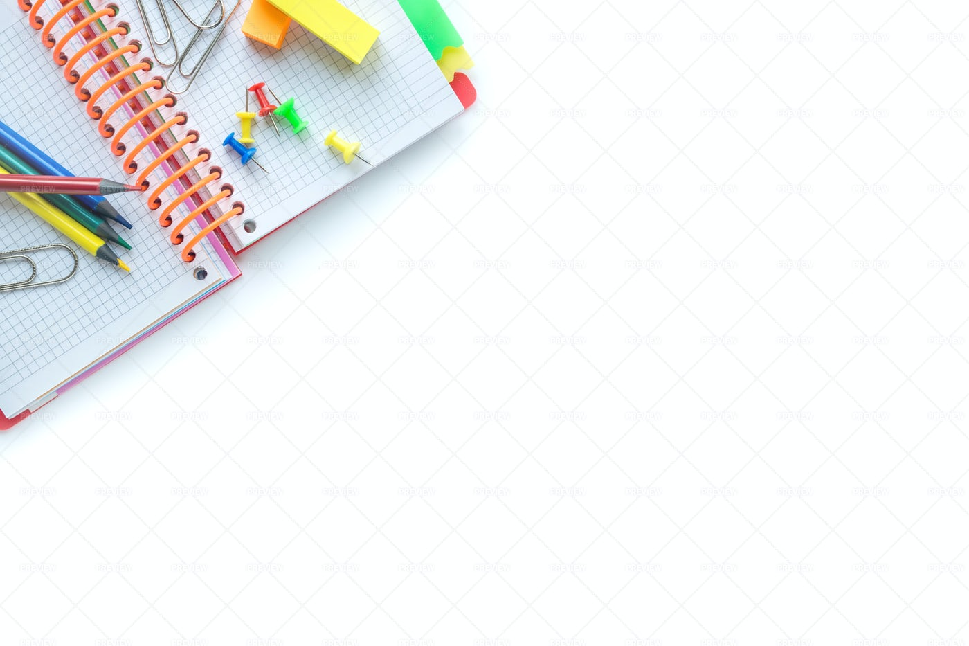 School And Office Supplies: Stock Photos