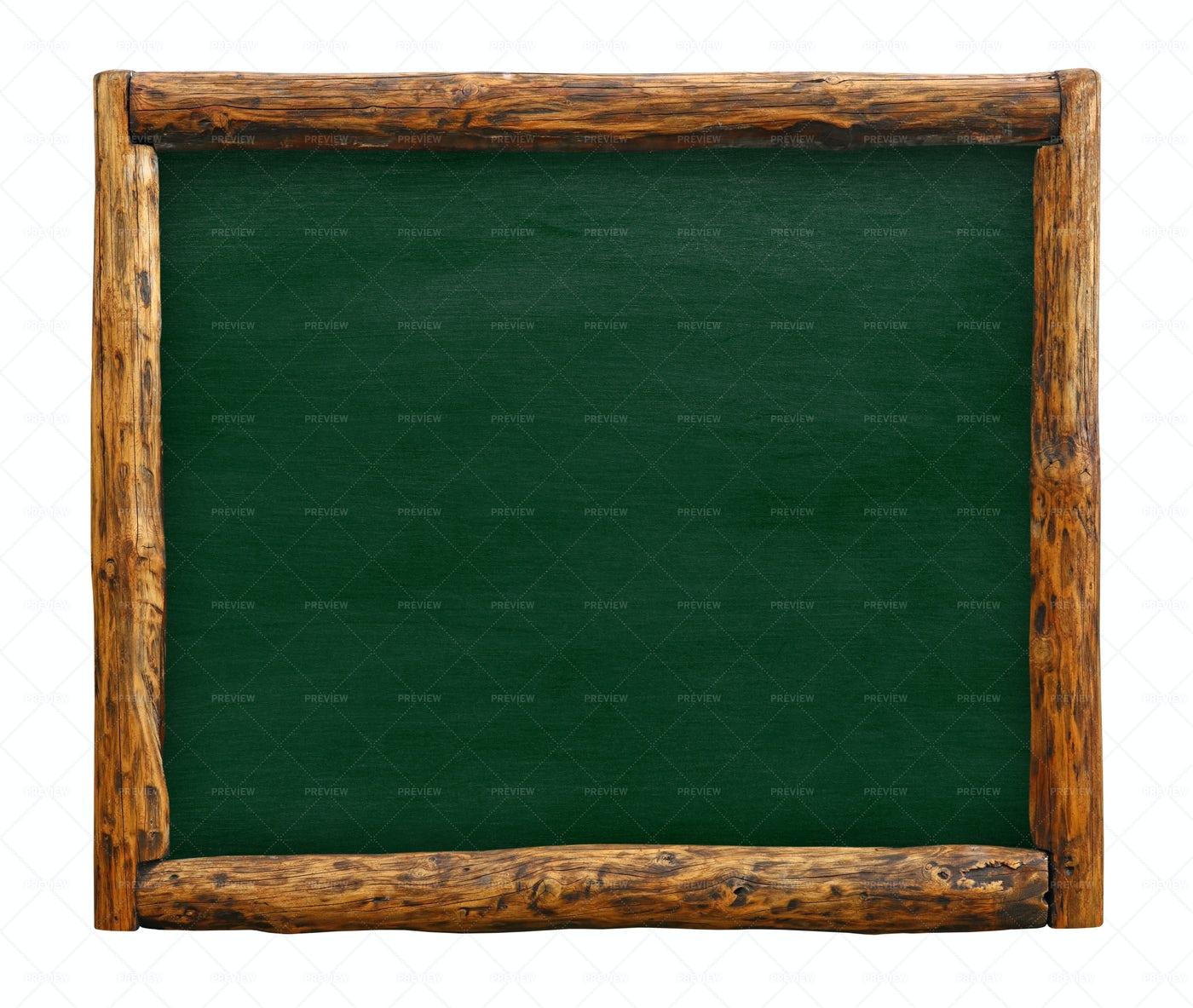 Green Chalkboard Sign: Stock Photos