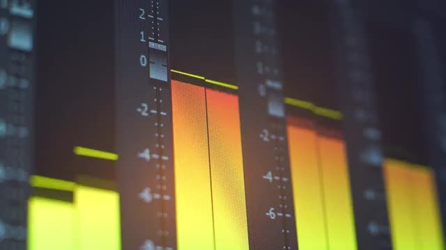 Audio Mixer Indicator Lights: Stock Video