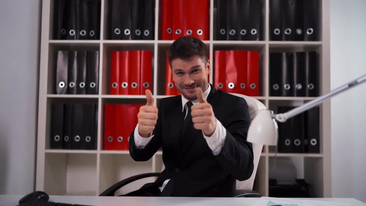 Applause Thumbs Up At Work: Stock Video