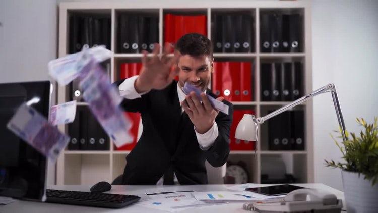 Throwing Money: Stock Video