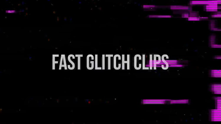 Fast Glitch Pack: Stock Motion Graphics