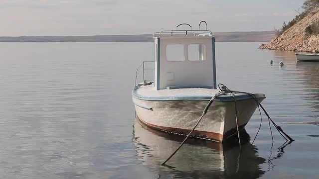 Steady Fishing Boat: Stock Video