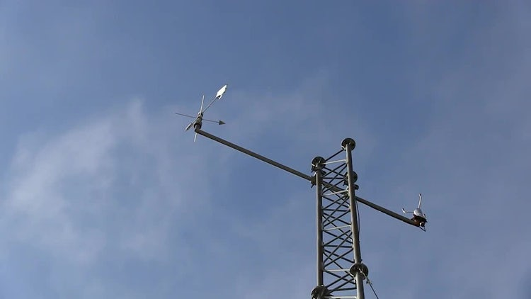 Weather Tower Vane And Recorder : Stock Video