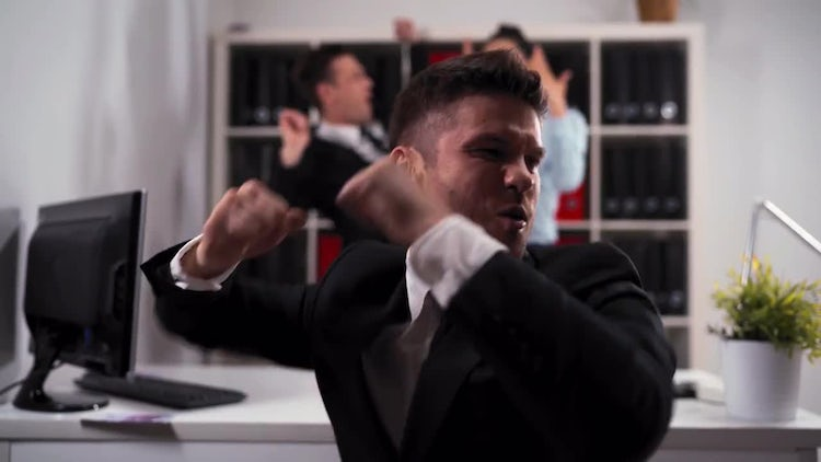 Businesspeople Dancing In The Office: Stock Video