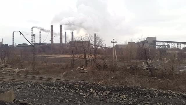 Smoke From Mining Processing Plant : Stock Video