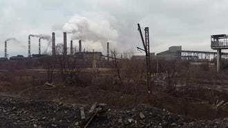 Smoke From Mining Factory: Stock Video