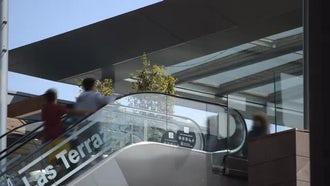 Outdoors Escalator: Stock Video