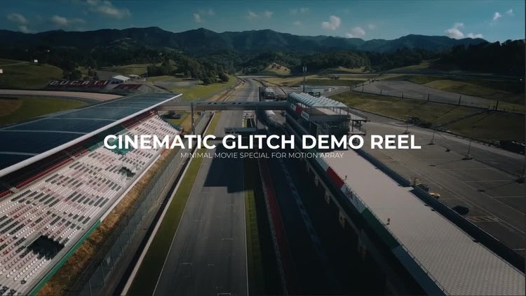Cinematic Glitch Demo Reel: After Effects Templates