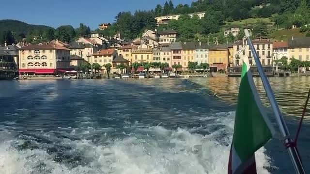 Italian Lake Boat: Stock Video