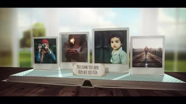 3D Pop Up Photo Book: After Effects Templates