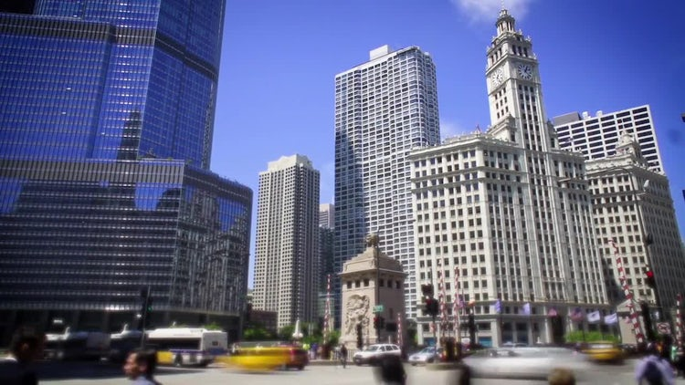 Chicago Downtown Traffic : Stock Video