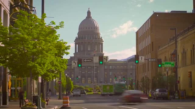 State Capitol Traffic  : Stock Video