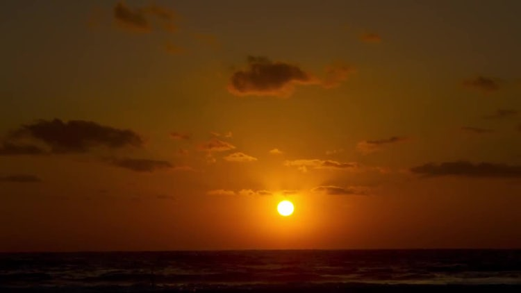 Golden Florida Sunset By Beach: Stock Video