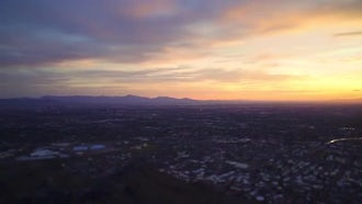 Sunset Over Phoenix: Stock Video