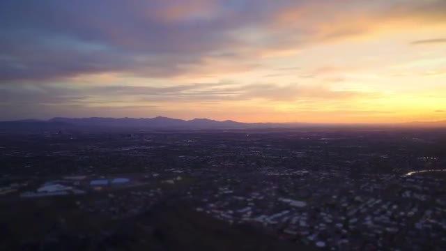 Sunset Over Phoenix: Stock Video