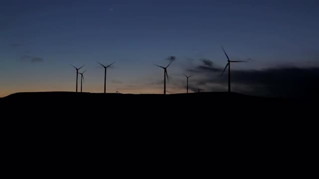 Wind Farm Outline: Stock Video