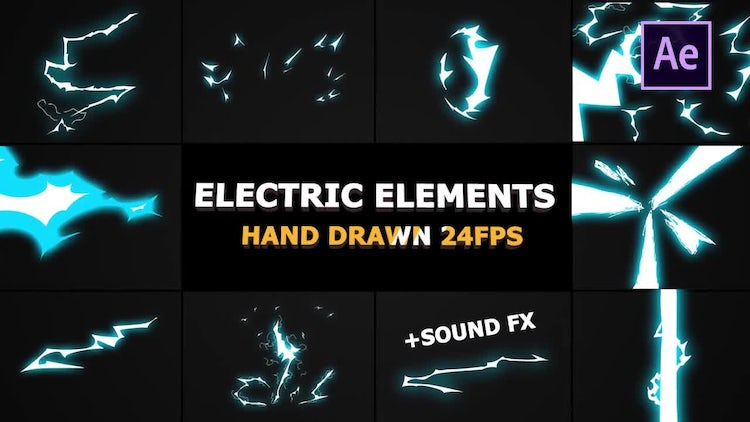 Dynamic Electric Elements: After Effects Templates