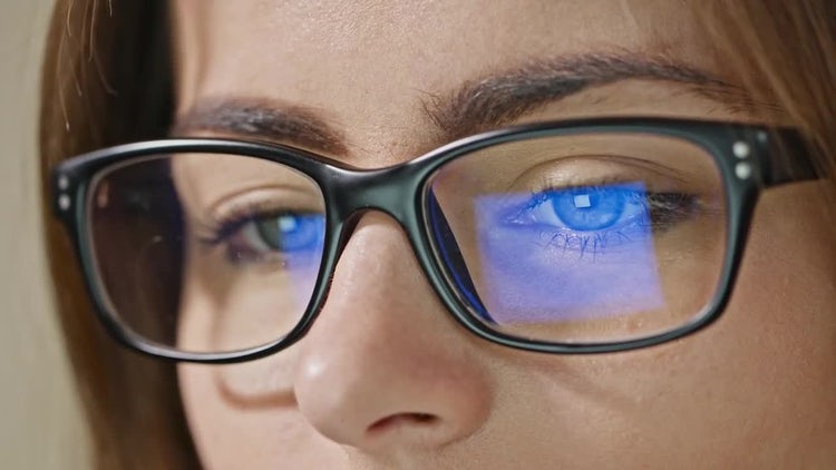 Woman Eyes With Glasses: Stock Video