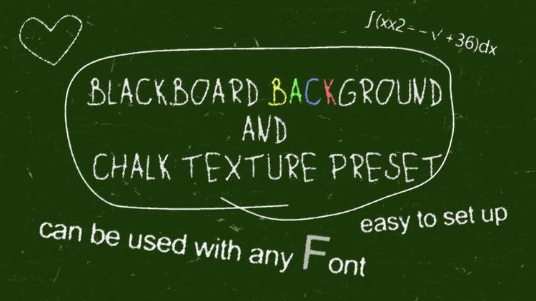 Chalk Board Preset: After Effects Templates