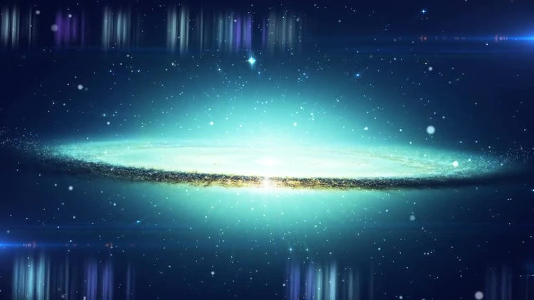 Journey In To Galaxy: Stock Motion Graphics