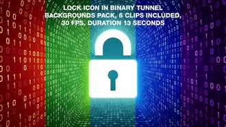 Lock In Binary Tunnel Backgrounds Pack: Motion Graphics