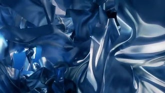 Blue Silk Abstract Background: Motion Graphics