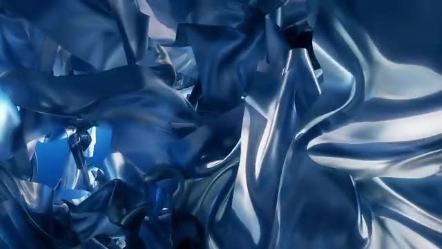 Blue Silk Abstract Background: Stock Motion Graphics