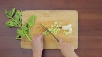 Chopping Celery : Stock Video