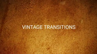 Vintage Transitions Pack: Motion Graphics