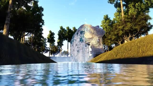 Fantasy Waterfall Fountain: Stock Motion Graphics