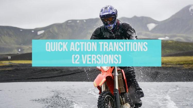 Quick Action Transitions: Premiere Pro Templates