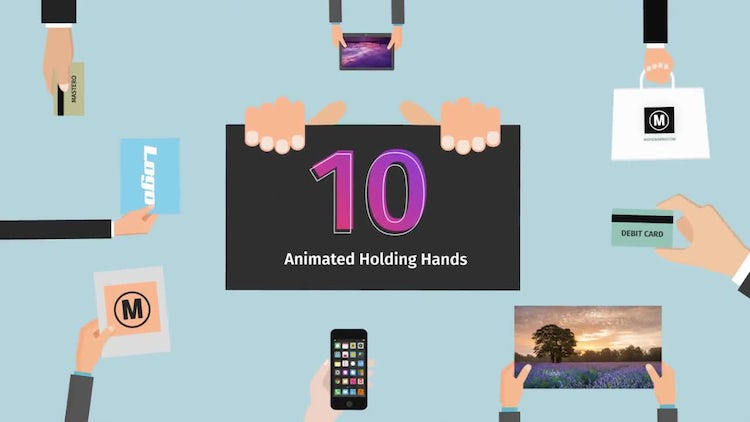 10 Animated Holding Hands: After Effects Templates