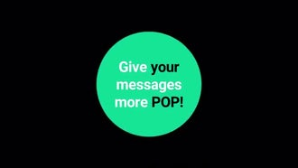 Social Media Flip & Pop Text Boxes: Motion Graphics Templates