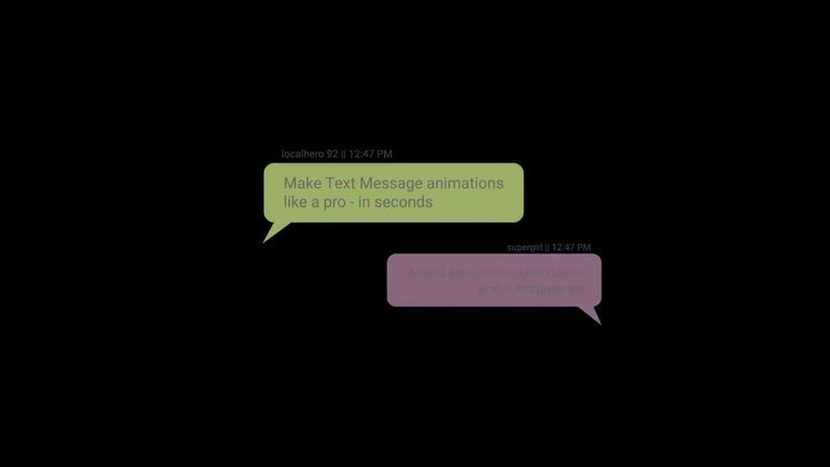 Text Messages Template: Motion Graphics Templates