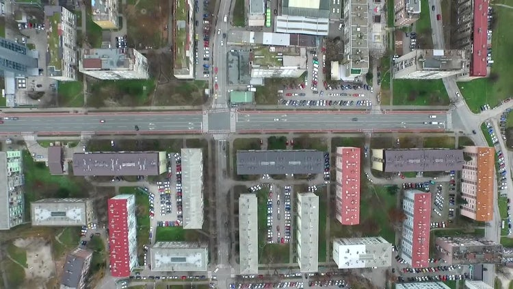 City Buildings Aerial View: Stock Video
