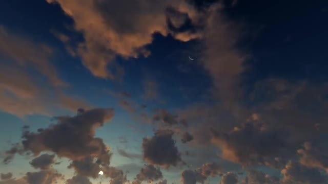 Clouds In Sunset: Stock Motion Graphics