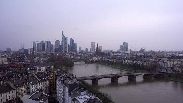Snowy Frankfurt Time Lapse: Stock Video