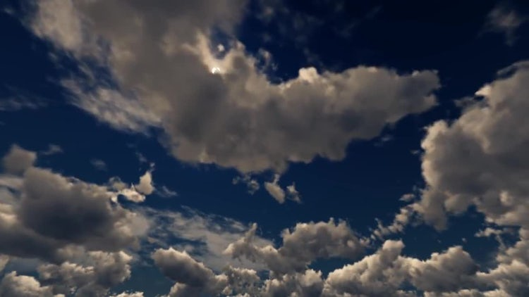 Clouds In The Sunset Sky: Stock Motion Graphics