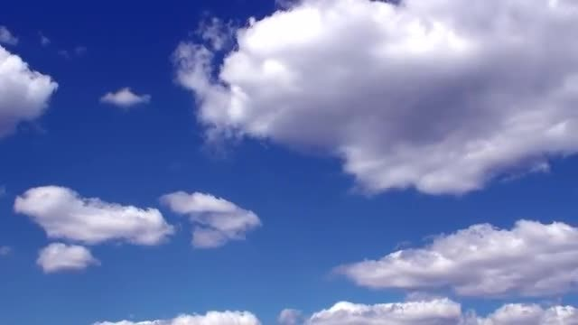 Dark Blue Timelapse Clouds Video: Stock Video