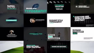 Typography Pack : After Effects Templates
