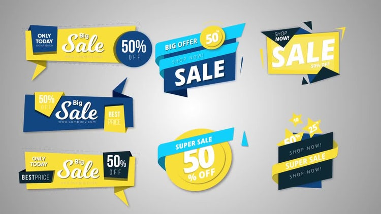 11 Sale Banners: After Effects Templates