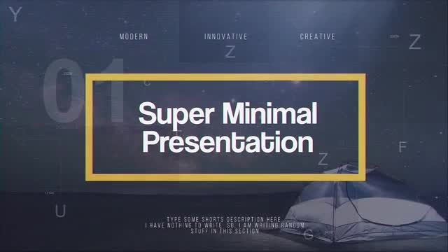 Super Minimal Presentation: After Effects Templates