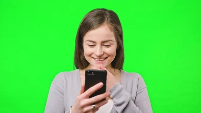 Good News On Her Phone: Stock Video
