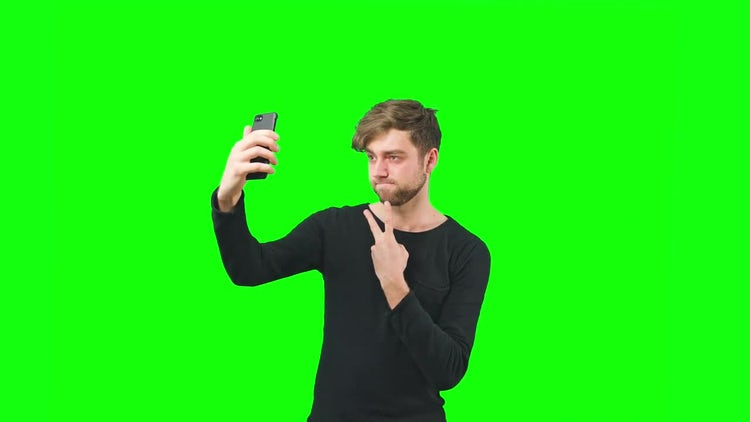 Young Man Taking Selfie: Stock Video