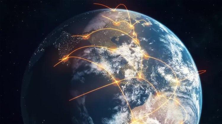 Global Network - Orange: Stock Motion Graphics